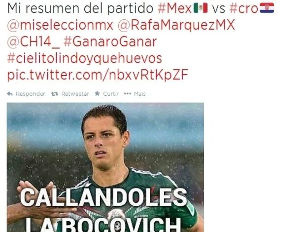 """""""Meu resumo da partida de hoje. Calando a boca"""". Mexicanos estão felizes com classificação da seleção"""