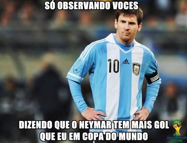 Nem Messi escapou das brincadeiras de hoje