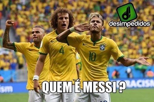 Neymar tem jogado muito mais do que o argentino nesta Copa