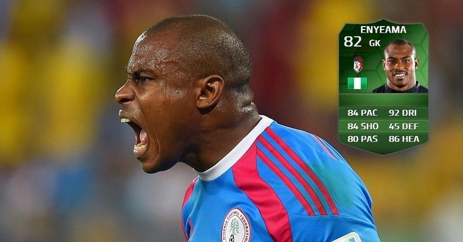 Nigéria 1 x 0 Bósnia: Vincent Enyeama (80 para 82)