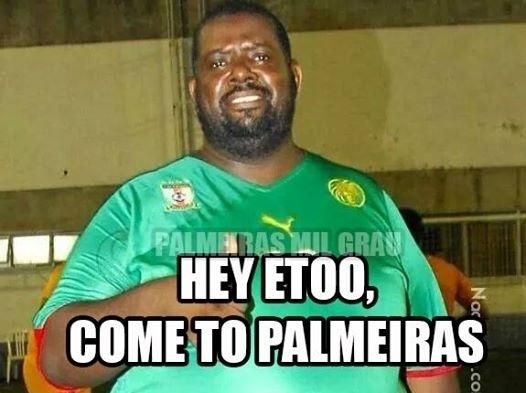 Tem até campanha pro atacante camaronês vir para o Palmeiras