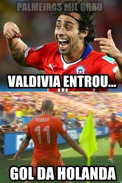 Valdívia não deu sorte para o Chile hoje
