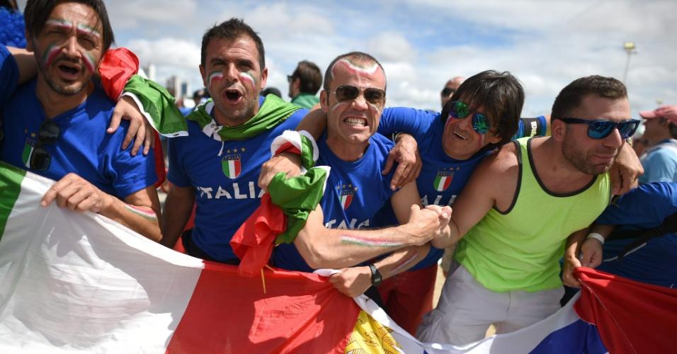 Torcedores da Itália começam a chegar na Arena das Dunas, em Natal