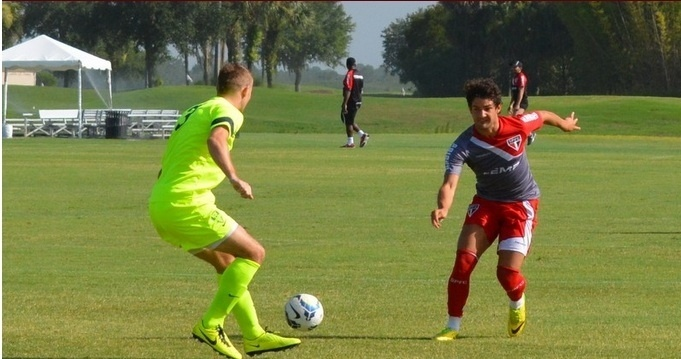 Alexandre Pato marcou um gol no jogo-treino contra o Jacksonville nos EUA