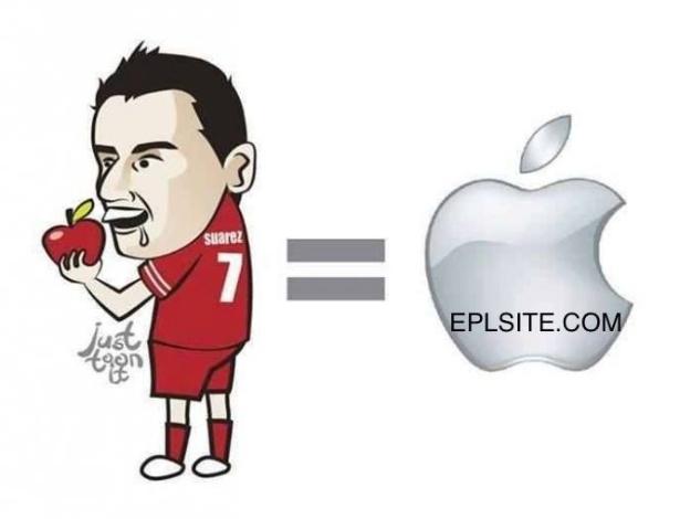 Até a maçã da Apple virou piada