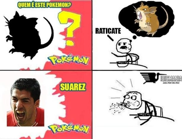 Até em Pokémon Suárez foi zoado
