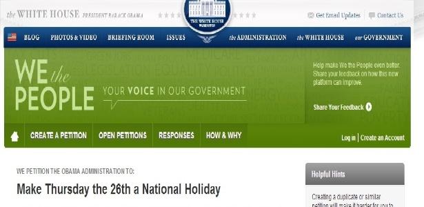 Casa Branca recebe pedido de feriado em dia de jogo dos EUA