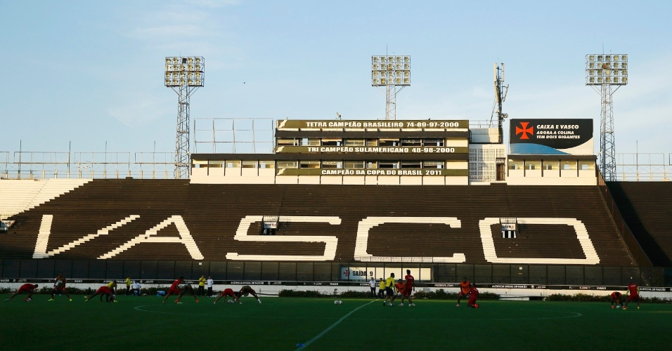 Com o Maracanã vetado, a seleção do Equador precisou treinar nesta terça-feira em São Januário, casa do Vasco