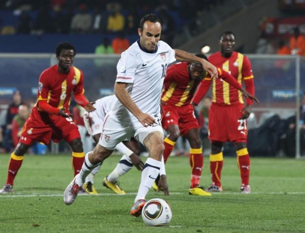 Em 2010, os EUA venceram seu grupo e pegaram Gana nas oitavas; o jogo alternativo foi para a prorrogação, sem faltar emoção
