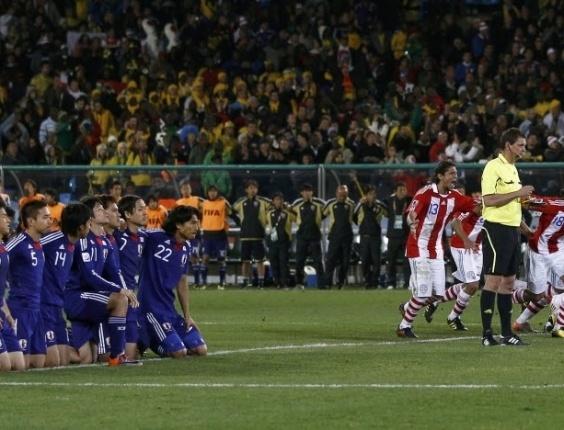 Em 2010, Paraguai e Japão jogaram nas oitavas; apesar do 0 a 0, a dose de emoção veio nos pênaltis, com a vaga paraguaia