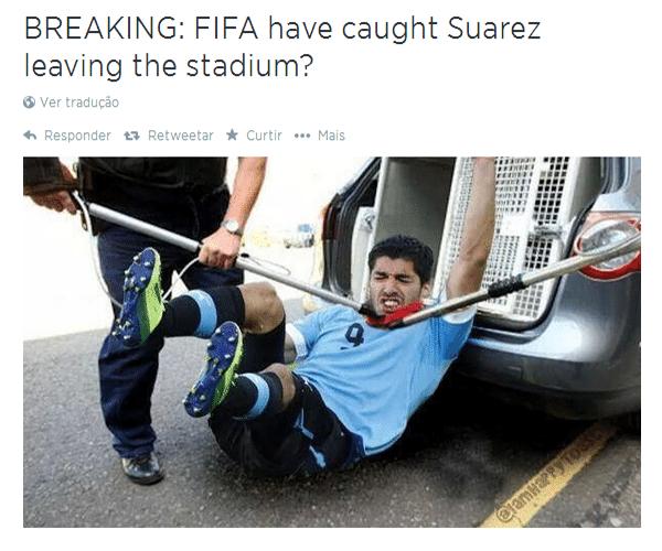 Fifa pega Luis Suárez fugindo do estádio