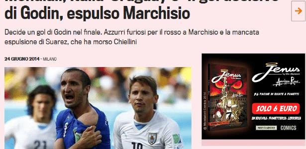Gazzetta dello Sport questiona arbitragem na derrota para o Uruguai