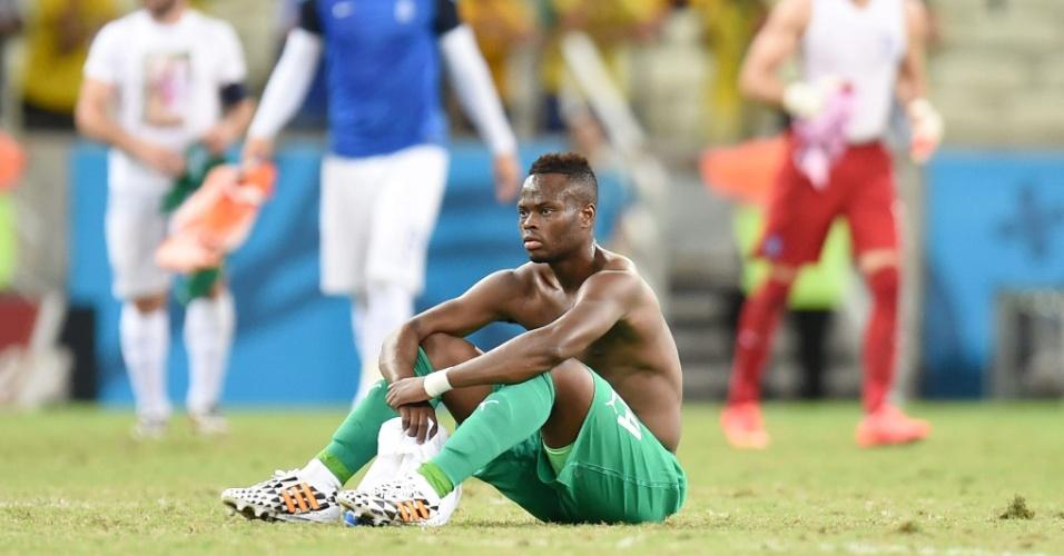 Ismael Diomande parece não acreditar na desclassificação da Costa do Marfim da Copa do Mundo