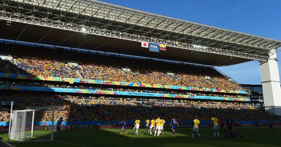 24.jun.2014 - Japão e Colômbia foi a última partida da Arena Pantanal nesta Copa do Mundo
