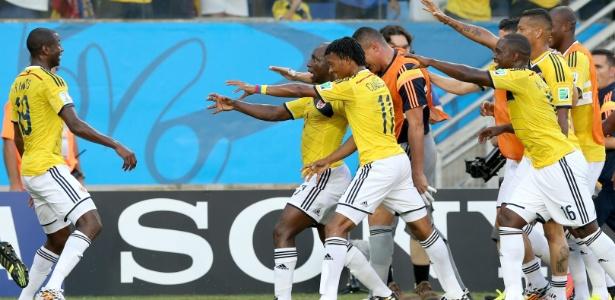 Cuadrado fez o primeiro gol da Colômbia contra o Japão