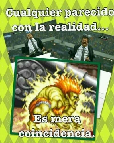 Miguel Herrera tem tanto carisma que virou meme. Esta imagem de uma comemoração antes da Copa gerou várias piadas