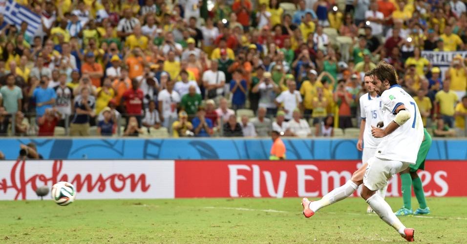 Samaras cobrou pênalti no final da partida e garantiu a vitória da Grécia sobre a Costa do Marfim