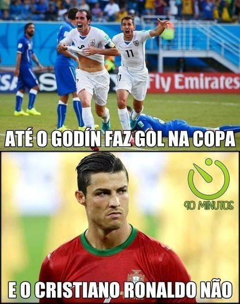 Seca de Cristiano Ronaldo continua gerando piadas