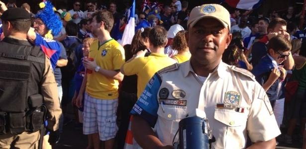 25.jun.2014 - Marco Antonio do Carmo, do Grupamento de Apoio do Turismo da Guarda Municipal do Rio