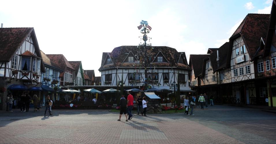 Vila Germânica é o grande parque de consumo de cerveja na cidade, o palco tradicional da Oktoberfest