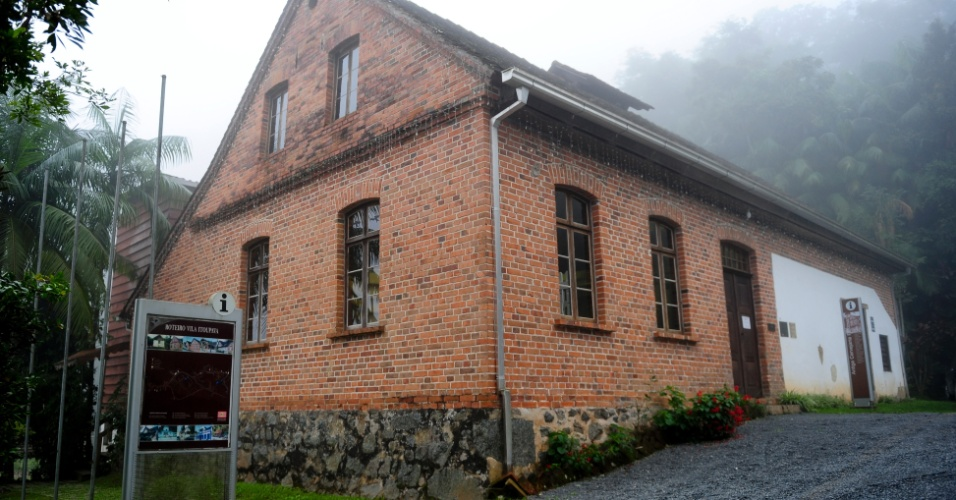 Fachada da Feldmann, uma das primeiras cervejarias de Blumenau, fundada ainda no final do século 19