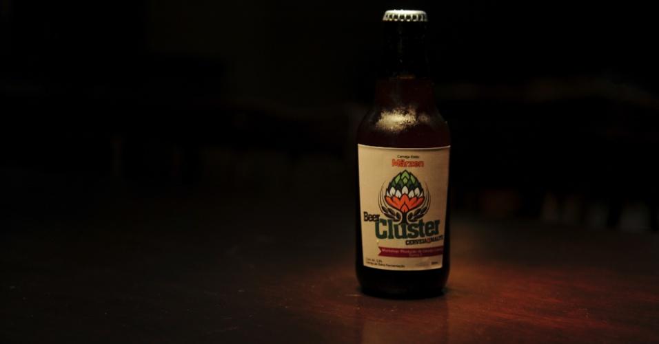 Cerveja Cluster, produzida por alunos da Escola Superior de Cerveja e Malte de Blumenau