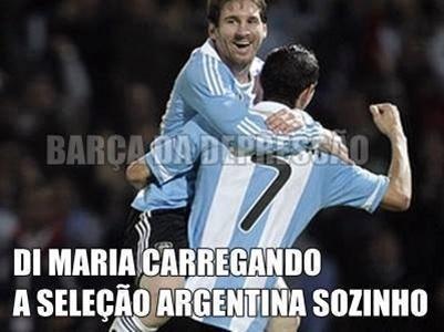 Di Maria carrega o time inteiro da Argentina nas costas... Não, pera