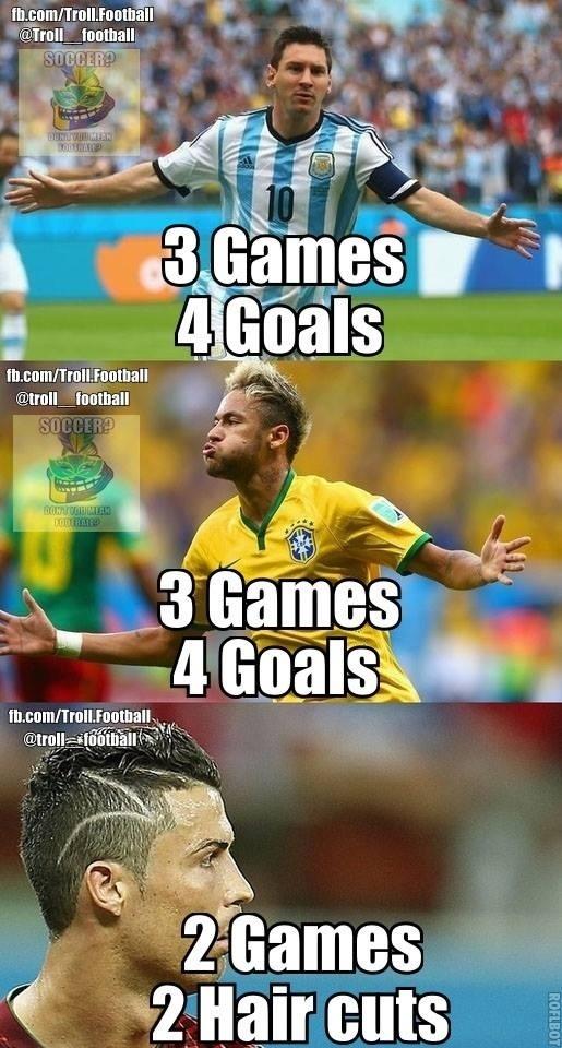 Em cortes de cabelo, Cristiano Ronaldo está ganhando de seus concorrentes