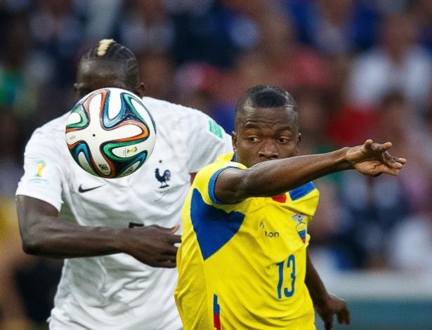 Enner Valencia, do Equador, aposta corrida contra Sakho, da França, em jogo no Maracanã