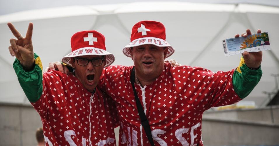 Fantasia ou pijama? Seja o que for, a vestimenta deu sorte aos suíços, que venceram Honduras por 3 a 0 em Manaus
