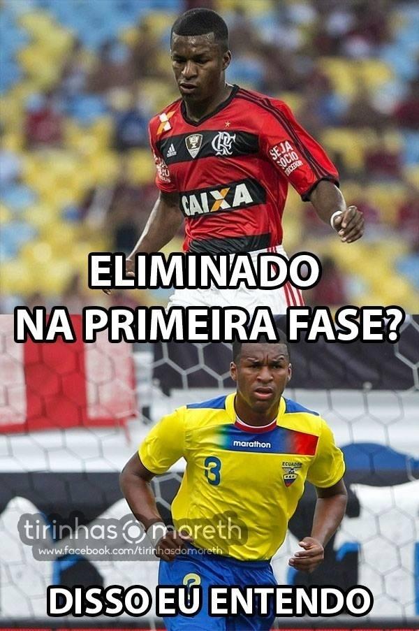 Internautas colocam Erazo, do Flamengo, como alvo na eliminação equatoriana