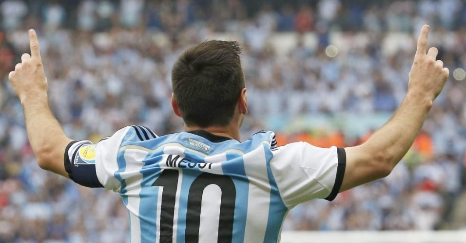 Messi celebra gol sobre a Nigéria, no Beira-Rio - 25/06/2014