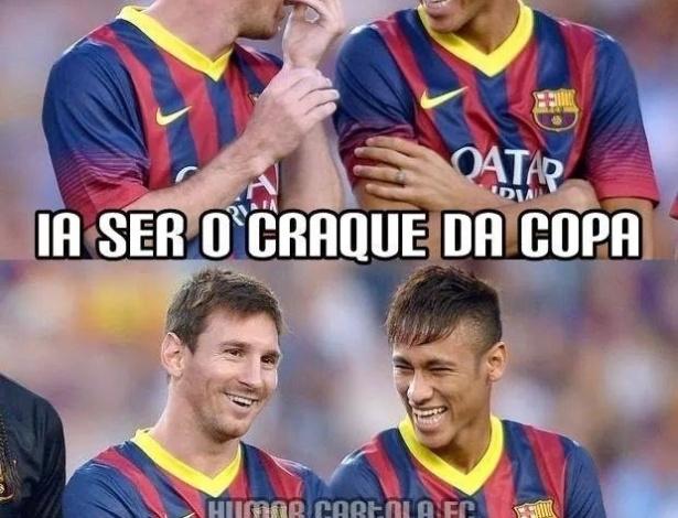 Messi e Neymar já fizeram 4 gols na Copa cada, já Cristiano Ronaldo...