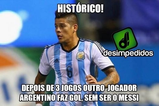 Messi vinha fazendo todos os gols da Argentina na Copa