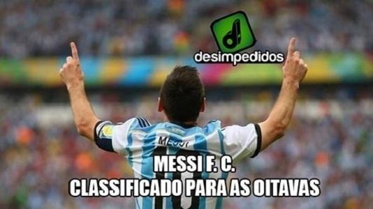 Nas brincadeiras, Argentina virou Messi FC