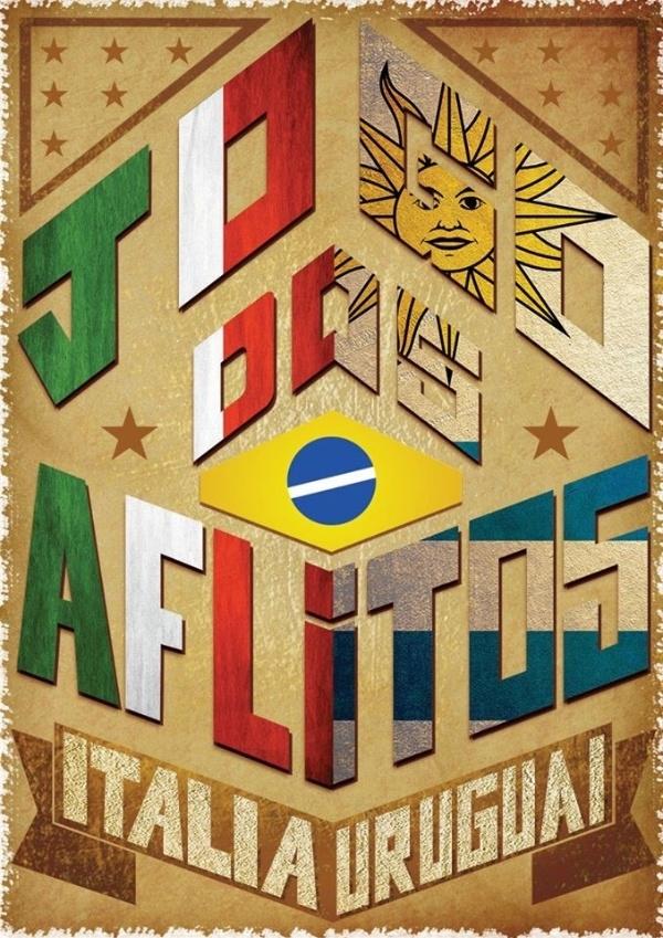 O designer Wagner Santos, da agência Wunderman, se inspirou no clima de festa de São João para o cartaz de Uruguai 1 x 0 Itália, na Arena das Dunas, em Natal