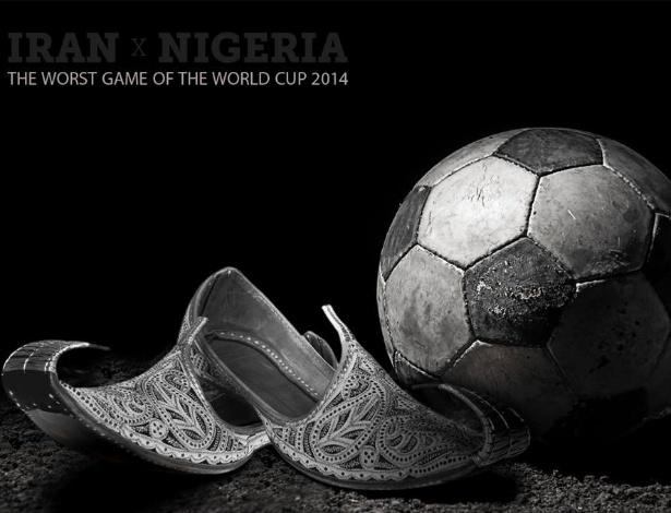 O diretor de arte Rafael Mantarro, da Black Bird Comunicação, não gostou do que viu em Irã 0 x 0 Nigéria, considerado o pior jogo da Copa até agora