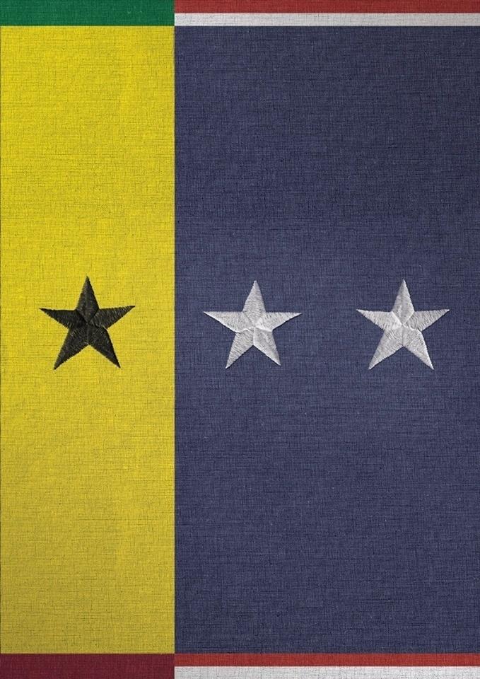 O diretor de arte Thiago Souza, da agência Wunderman, se inspirou na bandeira dos dois países para o cartaz de EUA x Gana. As estrelas comunicam o placar da partida