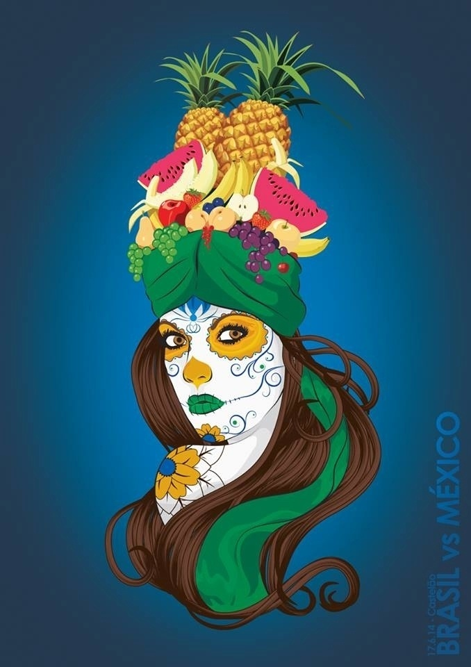 O publicitário e designer Felipe Zambon usou referências culturais e e artísticas dos dos países para representar Brasil 0 x 0 México