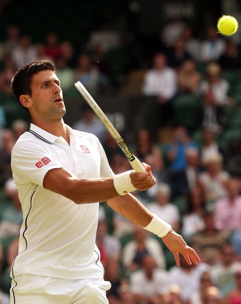 O tenista Novak Djokovic encara a sua segunda partida em Wimbledon