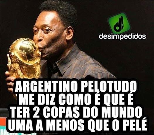 Pelé foi lembrado pelos brasileiros