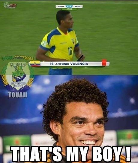 Pepe gostou do lance de Valencia