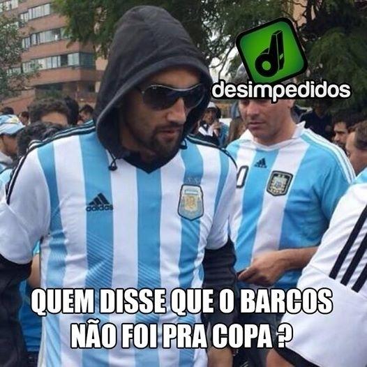 """""""Quem disse que o Barcos não veio pra Copa?"""