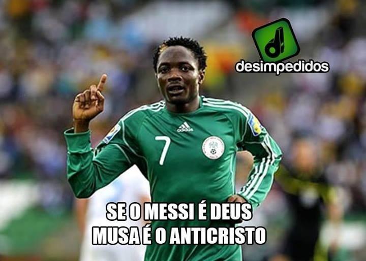 Se o Messi é Deus, o nigeriano Musa é o anticristo