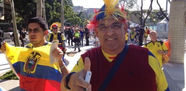 """Torcedor Miguel Angel Castillo diz que seria """"bem feito"""" se Equador ficasse de fora da Copa"""