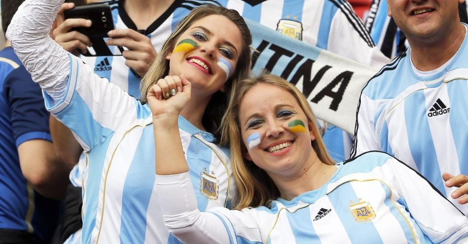 Torcedores já começam a ocupar o Beira-Rio antes de partida entre Nigéria e Argentina