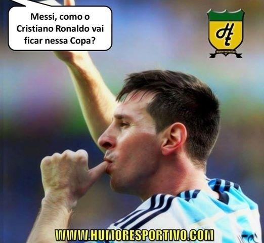 Até Messi mandou um recado para o português eliminado