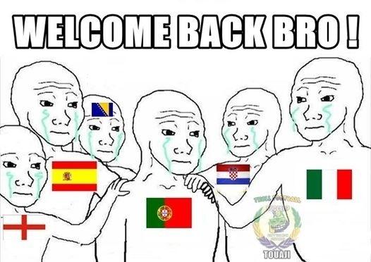 """""""Bem-vindo de volta, amigo"""". Mais um europeu eliminado da Copa"""