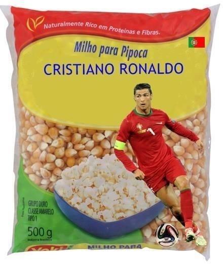 Cristiano Ronaldo vira marca de milho para pipoca