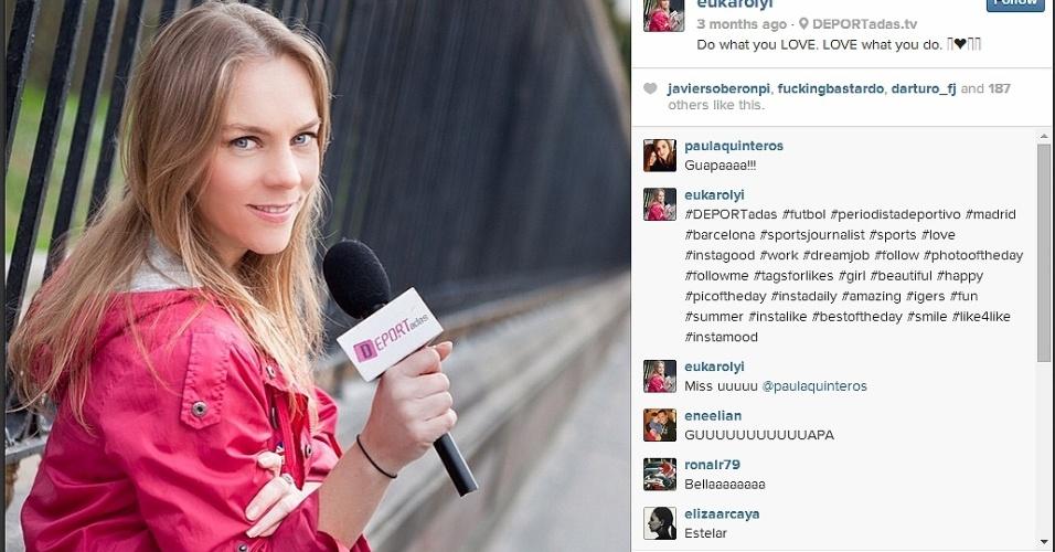 Eugenia Karolyi, repórter da TV mexicana